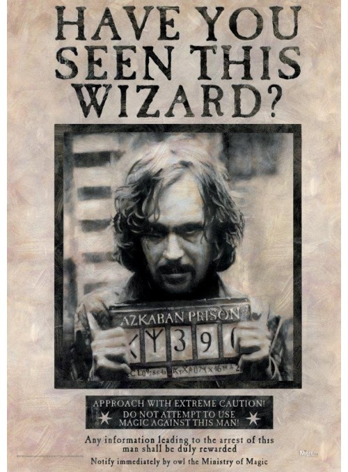 """Poster """"Wanted"""" Sirius Black - Harry Potter"""