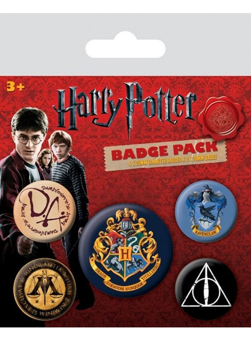 Pack 5 Chapas Hogwarts - Harry Potter