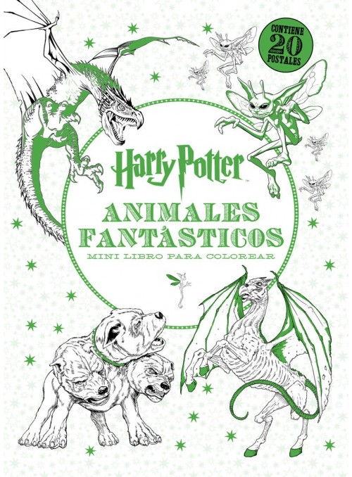 Harry Potter Animales Fantásticos Mini Libro para Colorear