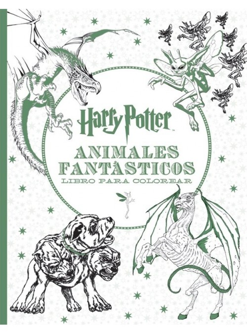 Harry Potter Animales Fantásticos Libro para colorear