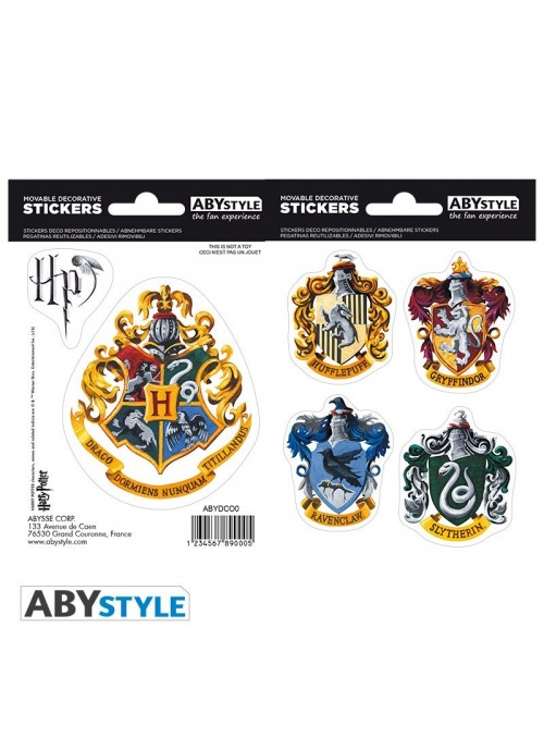 Stickers shields of the houses - Harry Potter