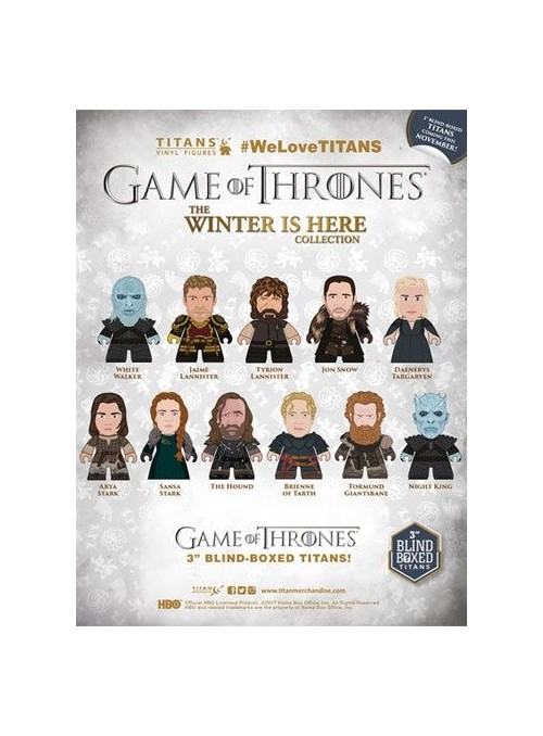 Expositor 18 Minifuguras ''The Winter Is Here Collection Titns'' 8cm - Juego de Tronos