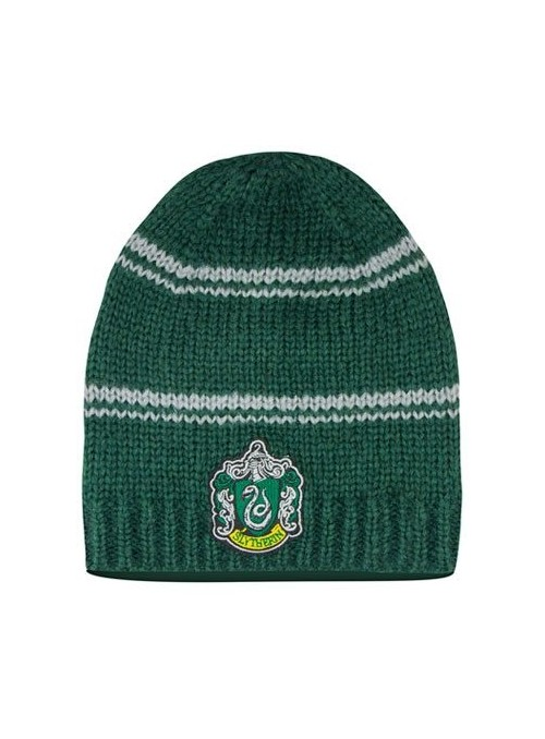 Gorro ''Beanie'' Encorvado Slytherin con Escudo - Harry Potter