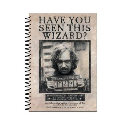 Caderno A5 Wanted Sirius Black-Harry Potter