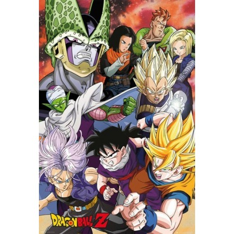 Póster Cell Saga 61 x 91 cm - Dragon Ball Z