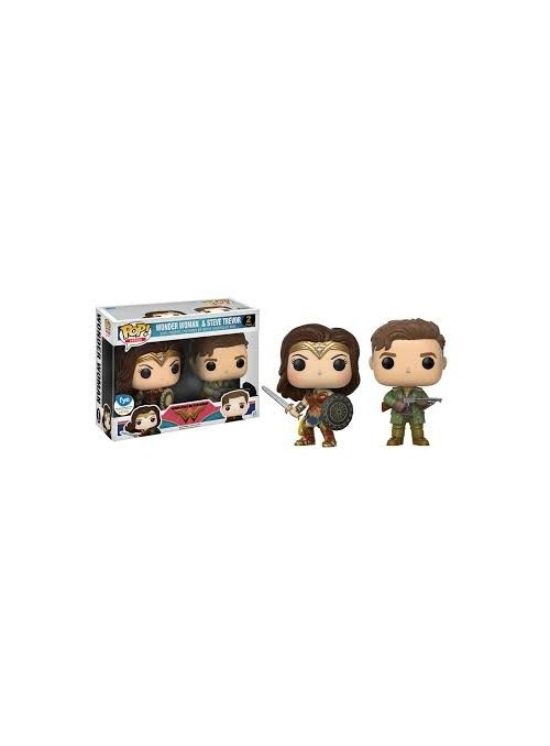 Set 2 Figuras POP Wonder Woman & Steve Trevor Exclusive - Wonder Woman Movie