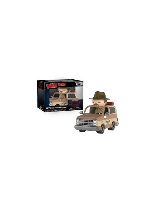 Figura Dorbz Ridez Hopper and Sheriff Deputy Truck - Stranger Things