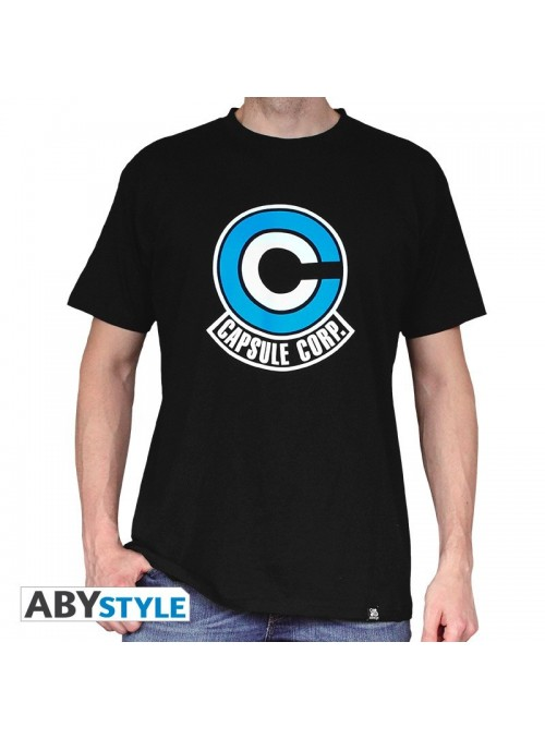 Camiseta Capsule Corp Negra - Dragon Ball