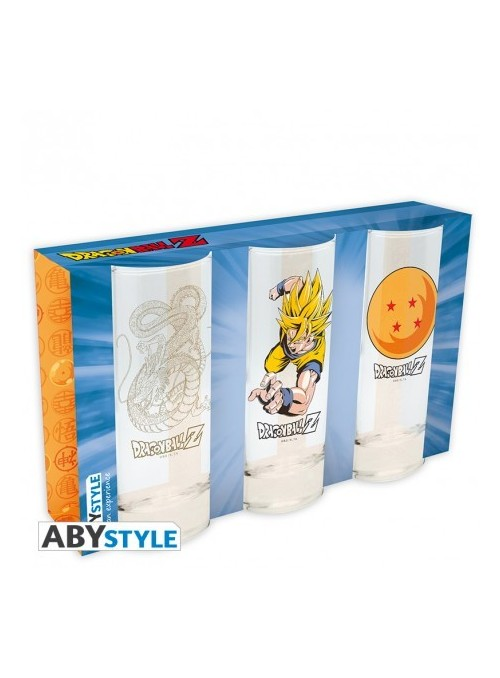 Set 3 vasos - Dragon ball
