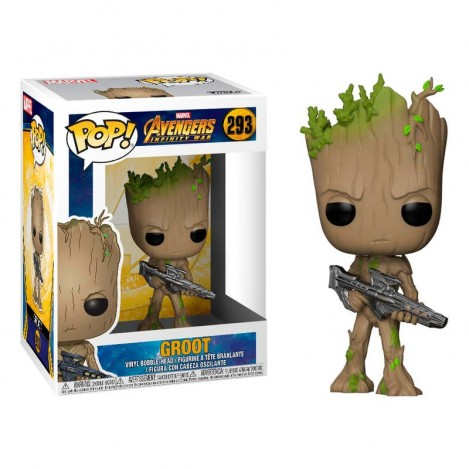 Figura Funko POP Groot with Gun- Marvel Avengers Infinity War