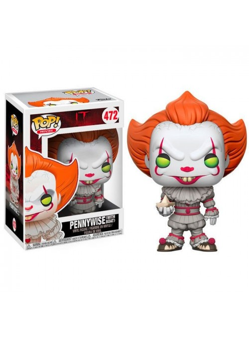 Figura Funko POP Pennywise Con Barco Papel- IT 2017