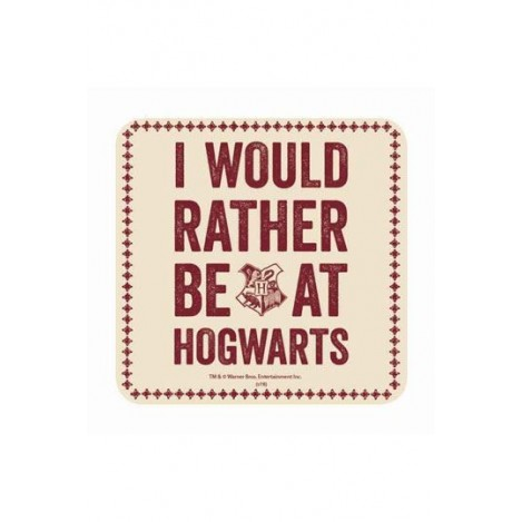 "Posavasos ""I would rather Be At Hogwarts"" -Harry Potter"