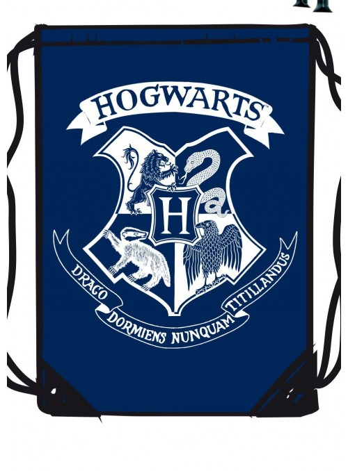 Fabric backpack blue Hogwarts - Harry Potter