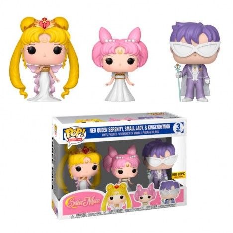 Figura 3 Pack Reina Serenity, Pequeña Dama, Rey Endymion Exclusive - Sailor Moon