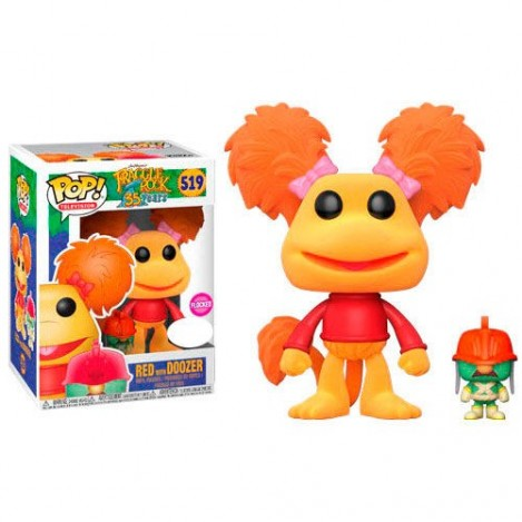 Figura Funko POP Red con Doozer Flocked Exclusive - Fraggle Rock