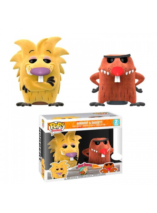 Figuras POP Norbert & Daggett Flocked Exclusive - Angry Beavers