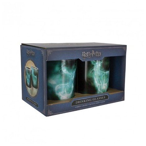 Pack 2 glasses, crystal Patronus - Harry Potter