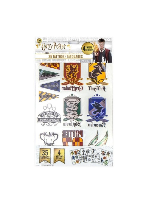 Set of 35 temporary Tattoos - Harry Potter