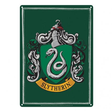 Placa de metal Slytherin 21 x 15 cm - Harry Potter