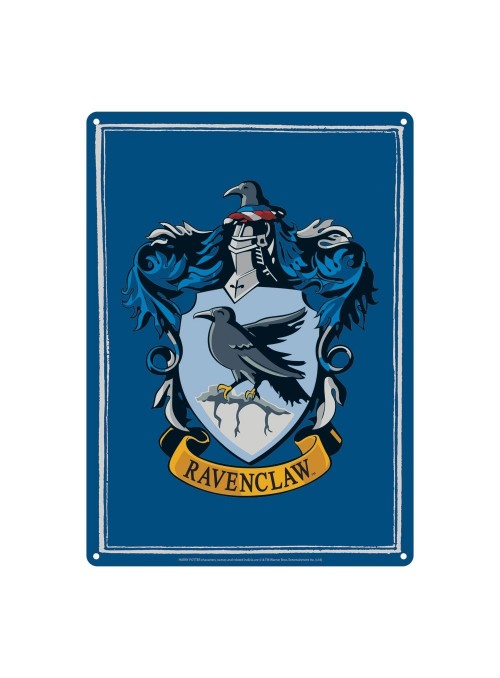 Metal plate Ravenclaw 21 x 15 cm-Harry Potter