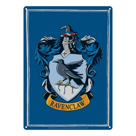Placa de metal Ravenclaw 21 x 15 cm - Harry Potter