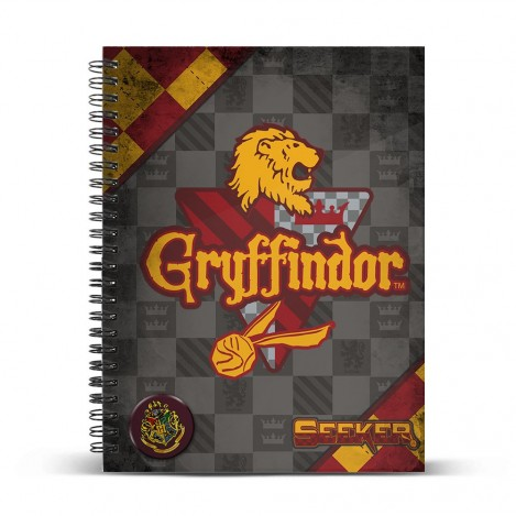 Libreta anillas A4 Quidditch Gryffindor - Harry Potter