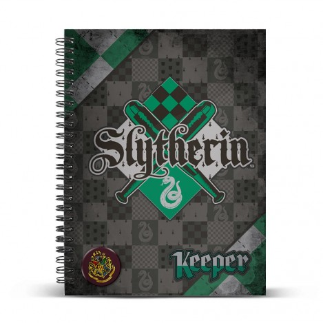 Libreta anillas A4 Quidditch Slytherin - Harry Potter