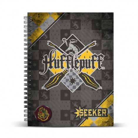Libreta anillas A4 Quidditch Hufflepuff - Harry Potter
