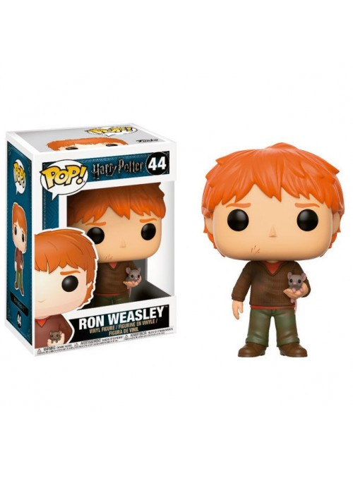 Figura Funko POP Ron Weasley con Scabbers - Harry Potter