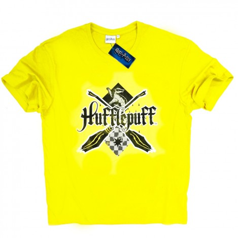 Camiseta Basic Hombre Amarilla Hufflepuff - Harry Potter