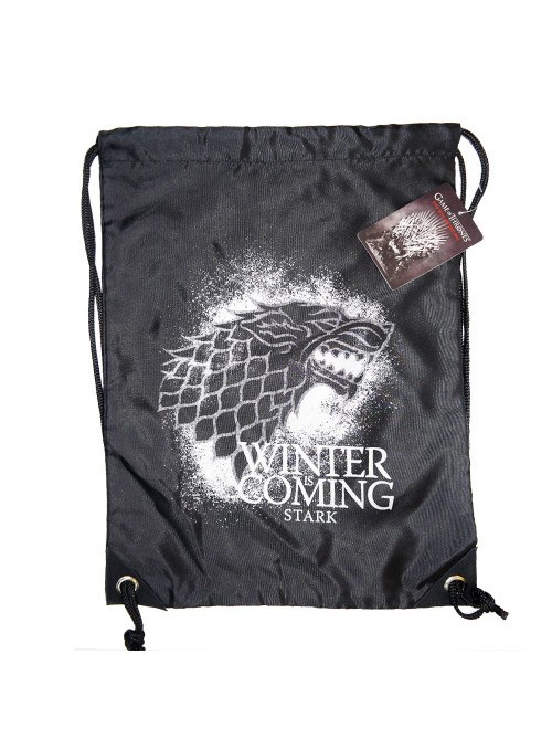 Fabric backpack in black Stark - Game of Thrones