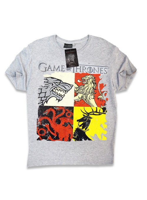 T-shirt Men's Grey Houses - Game of Thrones