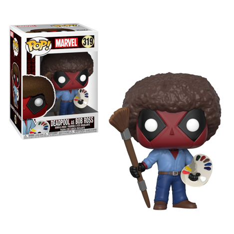 Figua Funko POP Deadpool Bob Ross - Marvel
