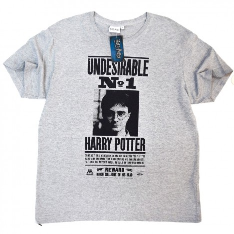 Camiseta Hombre Gris Undesirable nº1 - Harry Potter