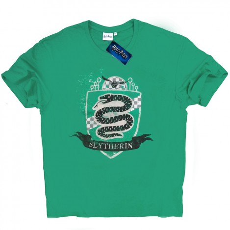 Camiseta Hombre Verde Slytherin - Harry Potter
