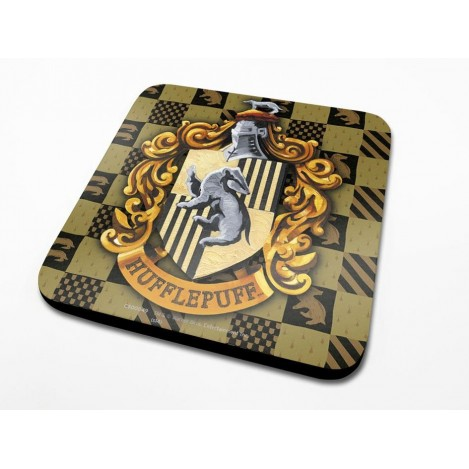 Pack of 6 Coasters Hufflepuff Crest - Harry Potter