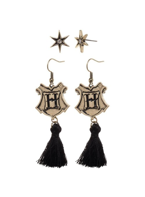 Set de 2 pares de Pendientes Hogwarts Tassle - Harry Potter