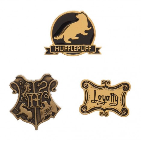 Pack 3 Chapas Hufflepuff - Harry Potter