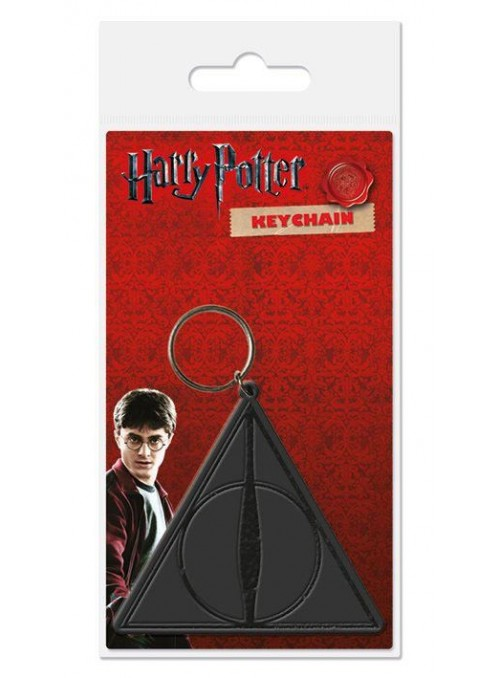 Llavero caucho Deathly Hallows - Reliquias de la muerte -6 cm - Harry Potter