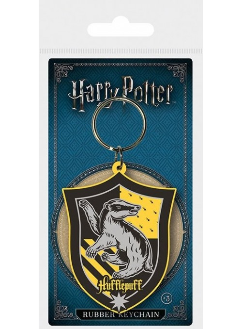 Portachiavi in gomma Hufflepuff 6 cm - Harry Potter