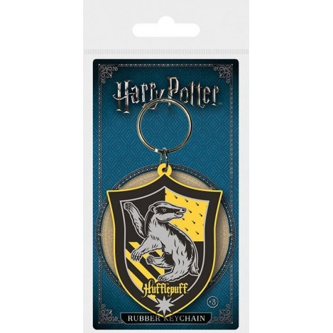 Keychain rubber Hufflepuff 6 cm - Harry Potter