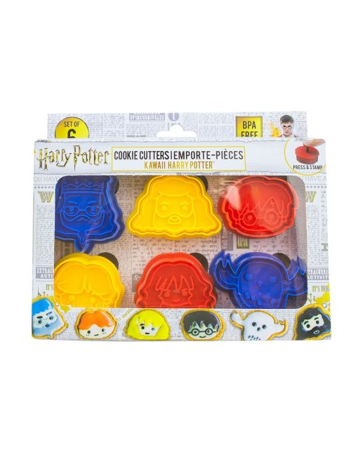 Pack of 6 Cutters / Stamps cookies, Kawaii - Harry Potter
