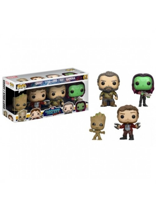 Set 4 figuras POP Guardians of the Galaxy 2 Exclusive - Marvel