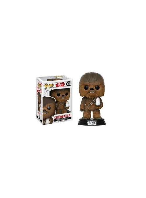 Figura POP The Last Jedi Chewbacca with Porg - Star Wars