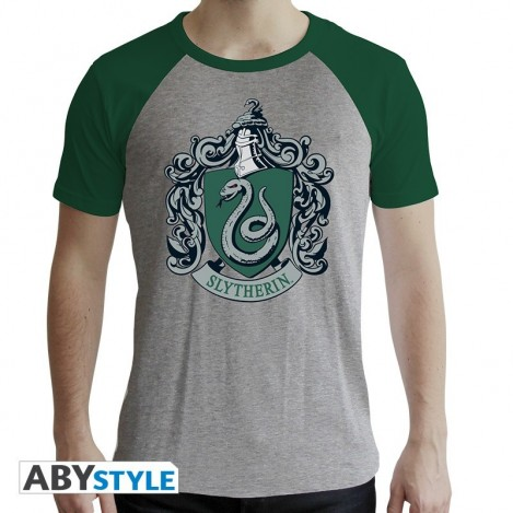 "Camiseta ""Slytherin"" man SS grey & green -Harry Potter"