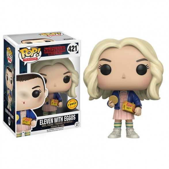 Figura POP Eleven with Eggos Chase -  Stranger Things