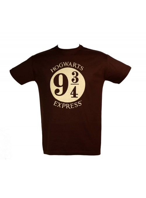 Camiseta marron hombre Logo 9 3/4 - Harry Potter