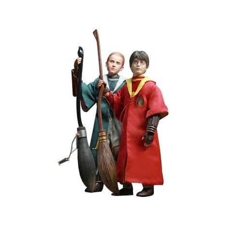 Harry Potter y Draco Malfoy Pack 2 Figuras 26 cm versión Quidditch - Harry Potter