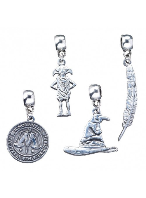 Set 4 colgantes Charm Collection Harry Potter surtido
