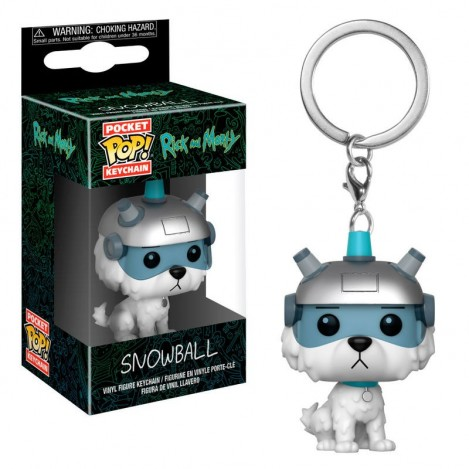 Llavero Pocket Funko POP Snowball - Rick & Morty